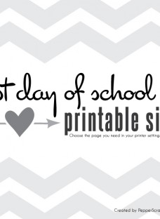 1st day of school sign by Pepper Scraps