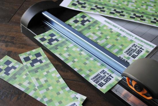 photograph regarding Minecraft Bookmarks Printable titled Minecraft Birthday Bookmarks Pepper Ss Printables