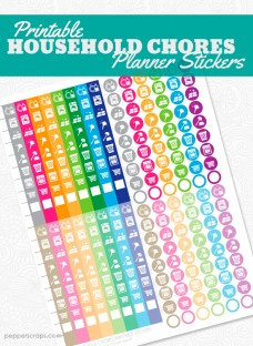 Printable Household Chores Planner Stickers