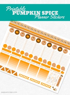 Printable Pumpkin Spice Planner Stickers