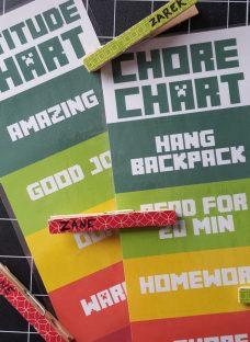 printable chore and attitude charts