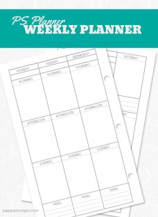 Printable Weekly Planner by Pepper Scraps
