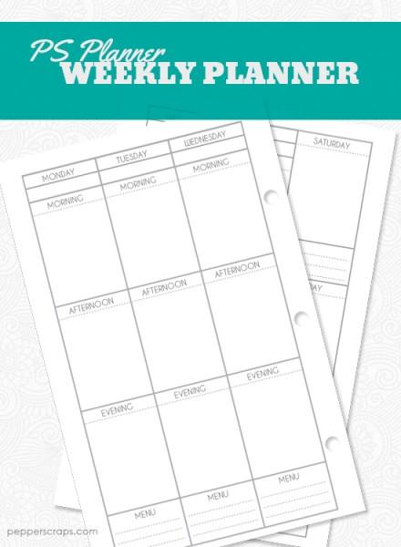 Printable Weekly Planner by Pepper Scraps