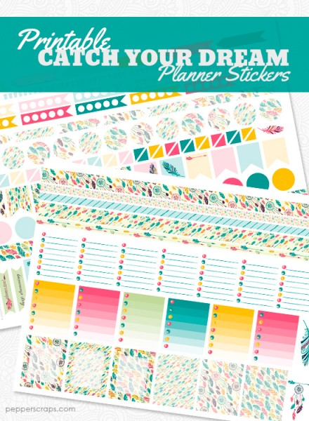 PrintableCatchYourDreamPlannerStickers