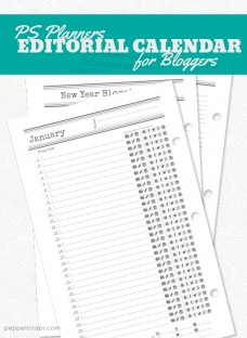 PS Planners Editorial Calendar for Bloggers