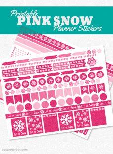 PinkSnowPlannerStickers