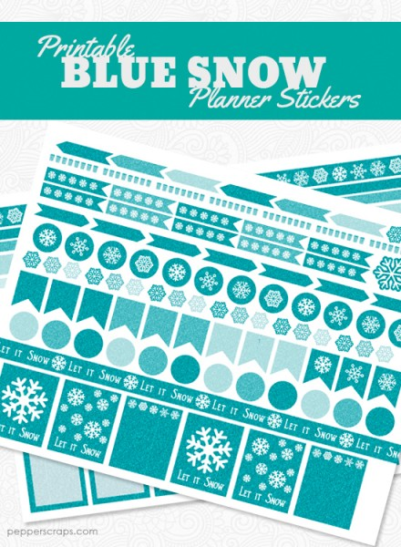 Printable Blue Snow Planner Stickers