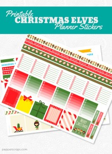 Printable Christmas Elves Planner Stickers