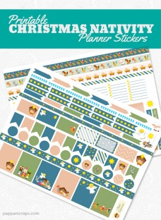 Printable Christmas Nativity Planner Stickers