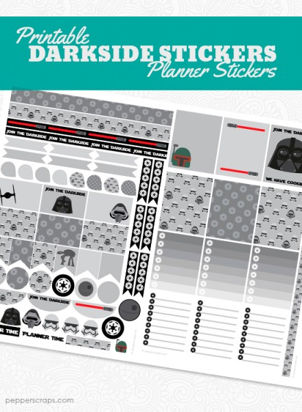 Darkside Planner Stickers Pepper Scraps Printables