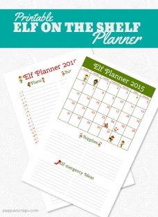 Printable Elf on the Shelf Planner