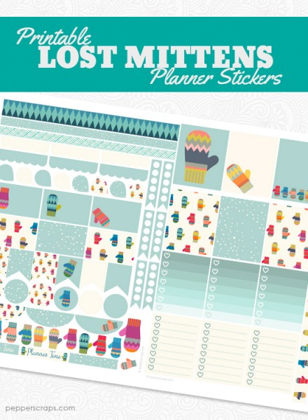 Printable Lost Mittens Planner Stickers