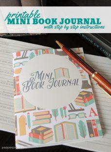 Printable Mini Book Journal