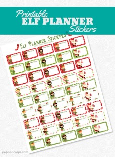Printable Elf Planner Stickers