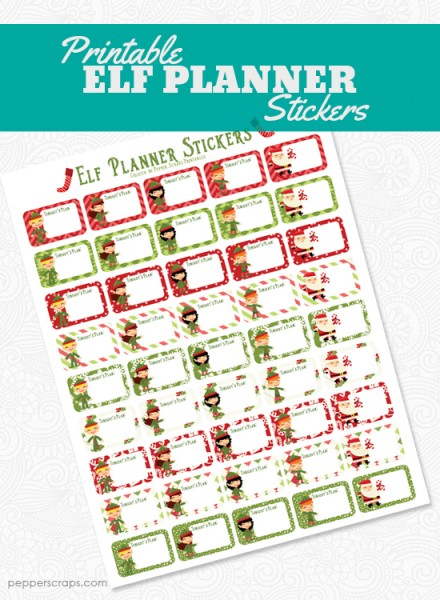 Printable Elf Planner Stickers