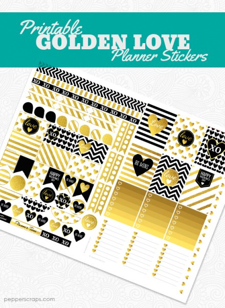 Printable-Golden-Love-Planner-Stickers