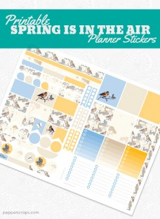Printable Spring is in the Air Planner Stickers